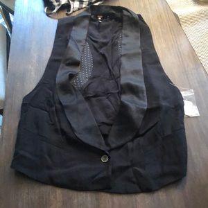 Free People Tuxedo Vest NWT